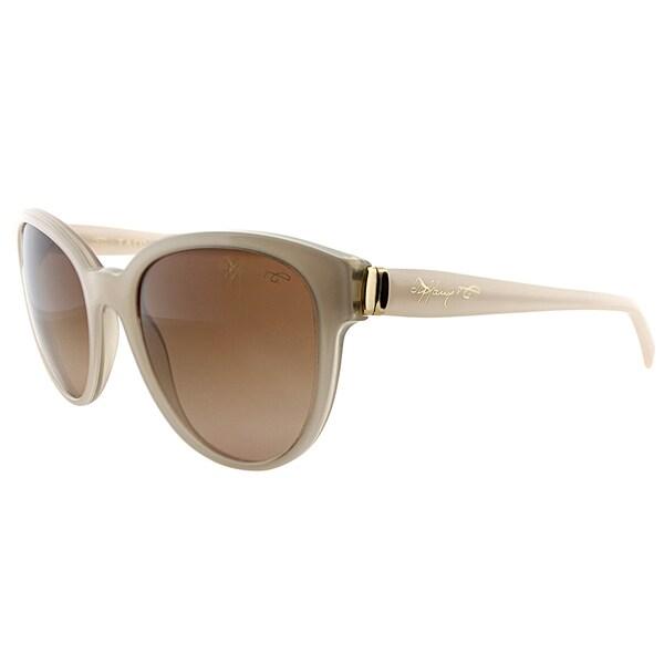 e7e562599d1a Tiffany TF 4109 81703B Tan Plastic Cat-Eye Sunglasses Brown Gradient Lens