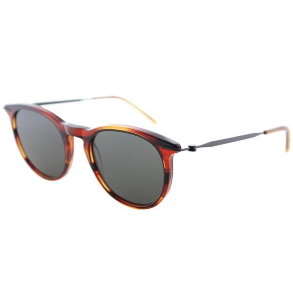 107a39fadec Tomas Maier tm6 005 Eye Rims Havana Plastic Round Sunglasses Grey Lens