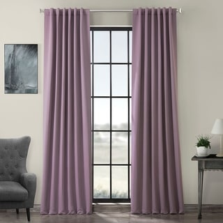 Exclusive Fabrics Purple Rain Blackout Curtain Panel Pair
