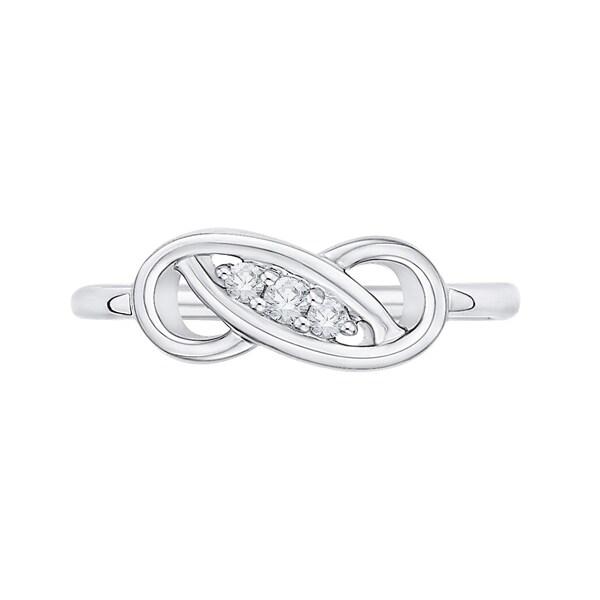 14K White Gold Diamond Infinity Ring