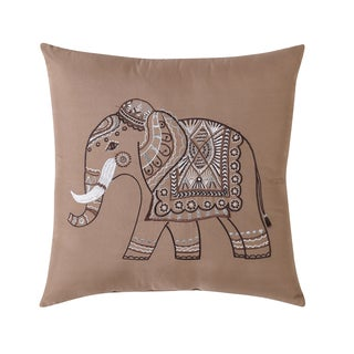 Elephant Embroidered Decorative PIllow  Coordinates with Venetian Bedding