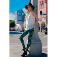 Lady'S Golf Plaid Fashion Legging