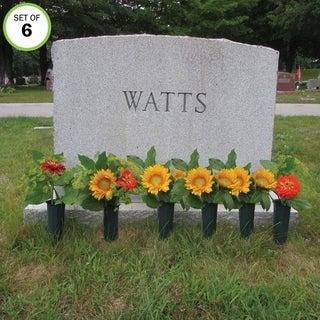 Evelots Set Of 6 Cemetery Flower Cone Vases