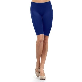 Lady'S Fitt Solid Color Seamless Basic Biker Shorts