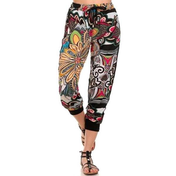 8a73b29480 Shop Lady'S Printed Joggers-Retro/Hippy Print - Free Shipping On ...