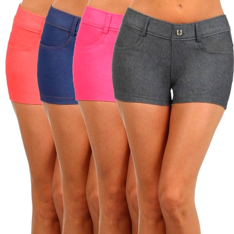 Women'S Solid Color Jegging Shorts