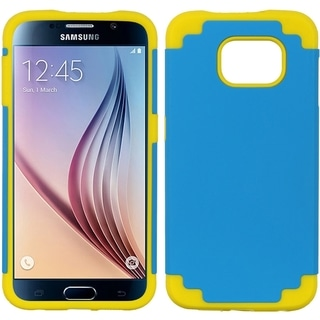 Samsung Galaxy S6 Hybrid Case Yellow Skin Blue Pc