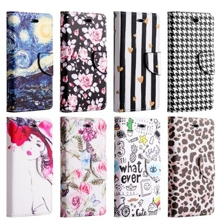 Apple Iphone 7 Plus Trndy Leather Flip Wallet Case - Chic Hearts
