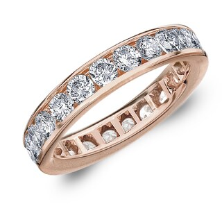 Amore 10K Rose Gold 2.0 CTTW Eternity Diamond Wedding Band