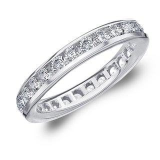 Amore 10K White Gold 1.50 CTTW Eternity Diamond Wedding Band