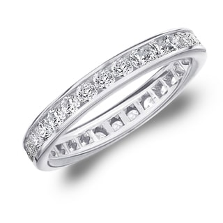 Amore 10K White Gold 1.0 CTTW Eternity Diamond Wedding Band