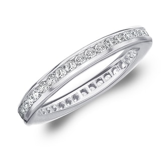 Amore 10K White Gold 0.50 CTTW Eternity Diamond Wedding Band