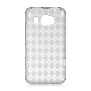Htc Titan 2 Crystal Skin Case Smoke Checker