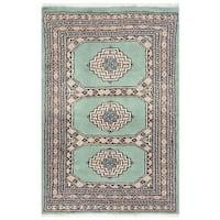 Handmade Herat Oriental Pakistani Bokhara Wool Rug - 2' x 3'1 (Pakistan)