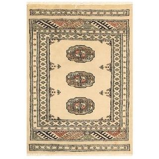 Handmade One-of-a-Kind Bokhara Wool Rug (Pakistan) - 2'1 x 3'