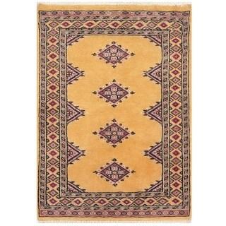 Herat Oriental Pakistani Hand-knotted Bokhara Wool Rug (2'1 x 2'10)
