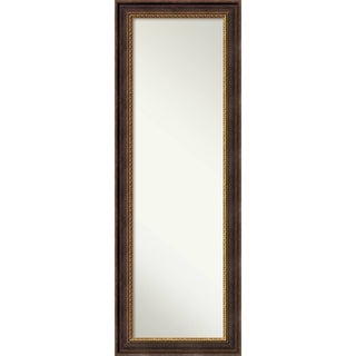 On The Door Full Length Wall Mirror, Veneto Distressed Black 19 x 53-inch - Black/Brown/Gold - 52.62 x 18.62 x 1.061 inches deep
