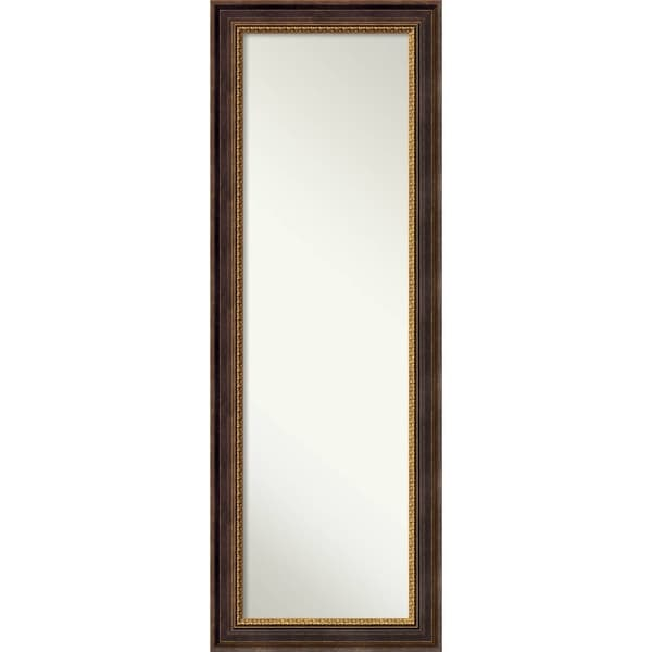 On The Door Full Length Wall Mirror Veneto Distressed Black 19 X 53 Inch