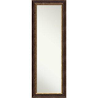 On The Door Full Length Wall Mirror, Veneto Distressed Black 19 x 53-inch - Black/Brown/Gold