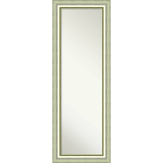 On The Door Full Length Wall Mirror, Vegas Curved Silver 19 x 53-inch