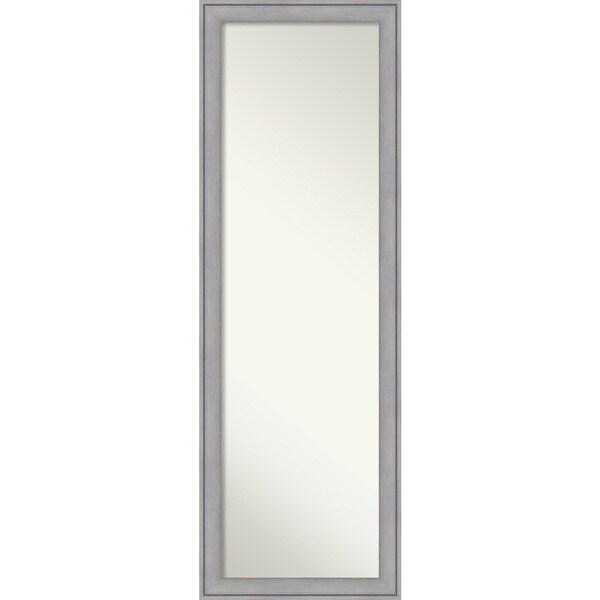 On The Door Full Length Wall Mirror, Graywash 18 x 52-inch - Grey - 51.38 x 17.38 x 1.12 inches deep