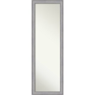 On The Door Full Length Wall Mirror, Graywash 18 x 52-inch - Grey