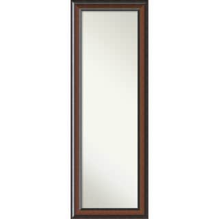 On The Door Full Length Wall Mirror, Cyprus Walnut 19 x 53-inch - Black/Brown - 52.88 x 18.88 x 1.48 inches deep