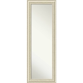 On The Door Full Length Wall Mirror, Country White Wash 19 x 53-inch