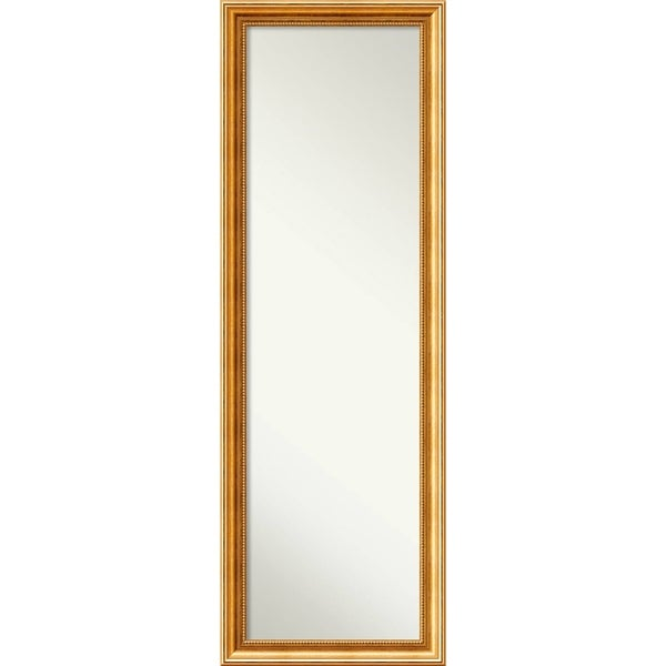 On The Door Full Length Wall Mirror, Townhouse Gold 18 X 52 Inch