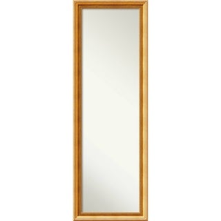 On The Door Full Length Wall Mirror, Townhouse Gold 18 x 52-inch