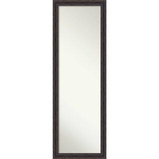 On The Door Full Length Wall Mirror, Narrow Rustic Pine 17 x 51-inch - Brown