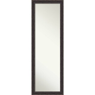 On The Door Full Length Wall Mirror, Narrow Rustic Pine 17 x 51-inch - Brown