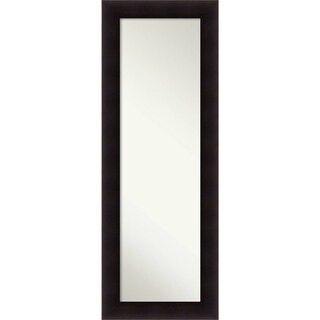 On The Door Full Length Wall Mirror, Portico Espresso 20 x 54-inch - Black/Brown - 53.75 x 19.75 x 0.862 inches deep