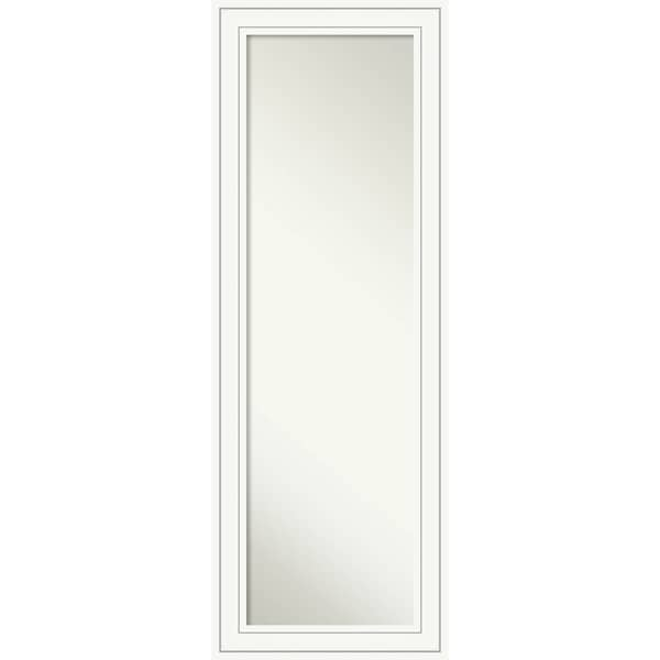 On The Door Full Length Wall Mirror, Craftsman White 19 x 53-inch