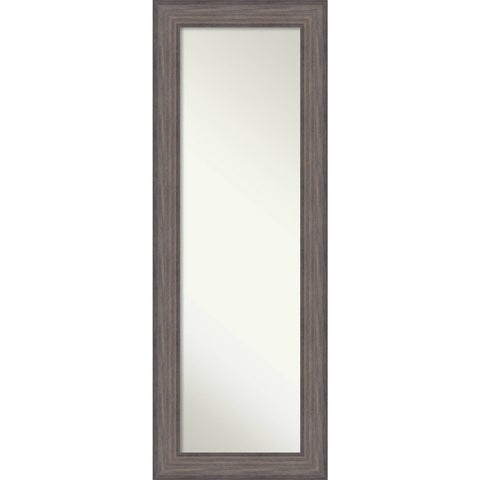 On The Door Full Length Wall Mirror, Country Barnwood 20 x 54-inch - Grey