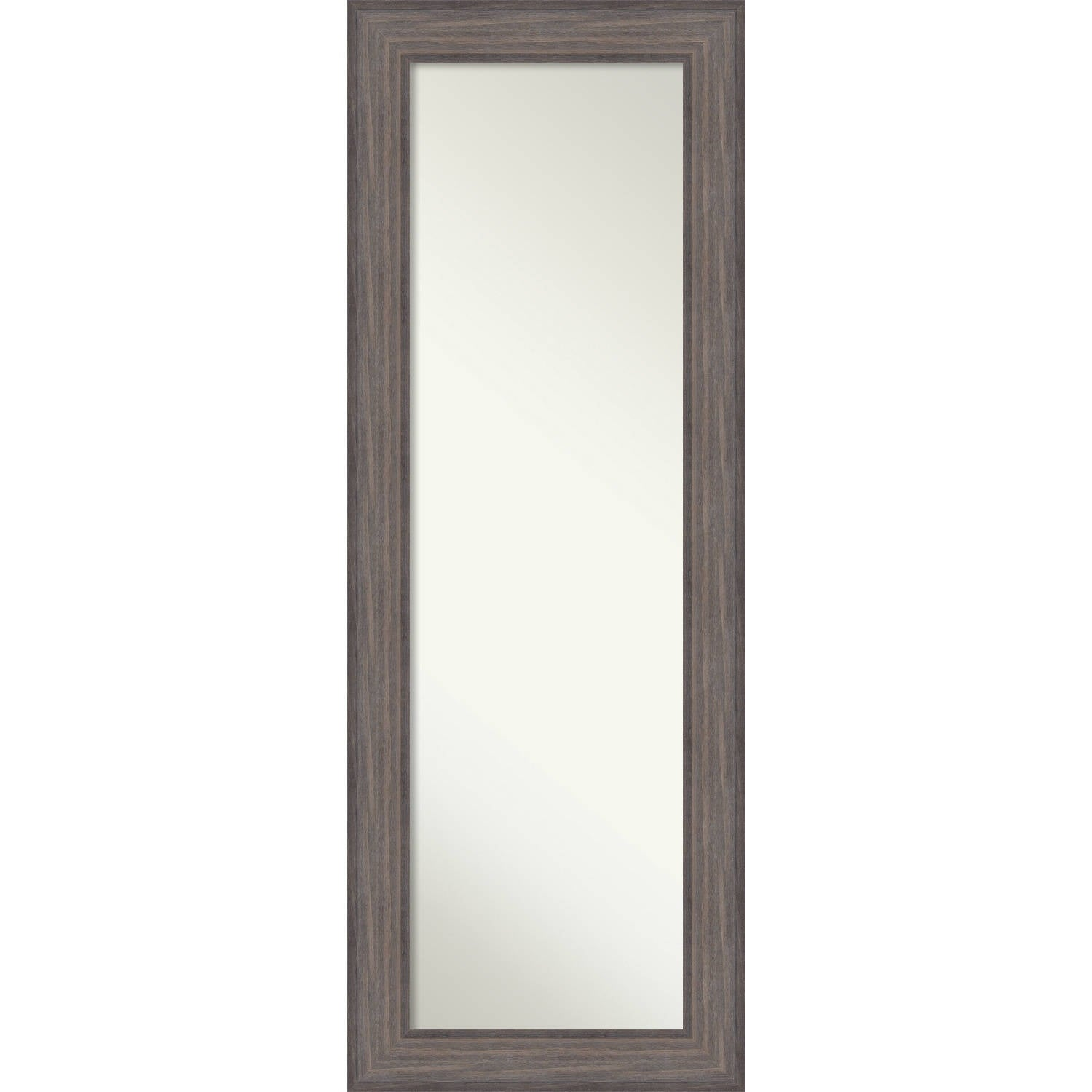 On The Door Full Length Wall Mirror Country Barnwood 20 X 54 Inch Brown Grey 53 25 19 0 741 Inches Deep