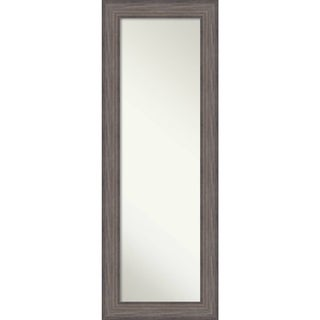 On The Door Full Length Wall Mirror, Country Barnwood 20 x 54-inch - Brown/Grey - 53.25 x 19.25 x 0.741 inches deep