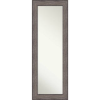 On The Door Full Length Wall Mirror, Country Barnwood 20 x 54-inch - Grey