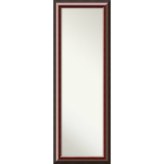 On The Door Full Length Wall Mirror, Cambridge Mahogany 19 x 53-inch - Black