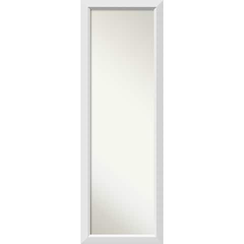 On The Door Full Length Wall Mirror, Blanco White 18 x 52-inch - 52 x 18 x 0.963 inches deep