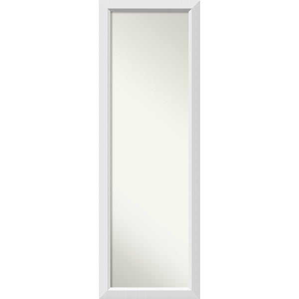 On The Door Full Length Wall Mirror, Blanco White 18 x 52-inch