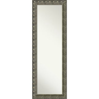 On The Door Full Length Wall Mirror, Barcelona Champagne 18 x 52-inch - Pewter/Antique Gold - 52.38 x 18.38 x 1.385 inches deep