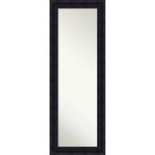 On The Door Full Length Wall Mirror, Annatto Mahogany 19 x 53-inch