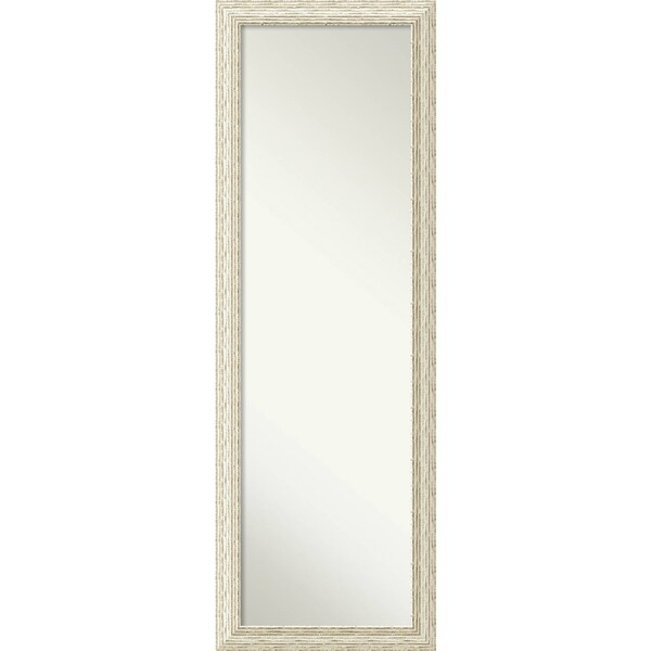 On The Door Full Length Wall Mirror Cape Cod White Wash 18 X 52