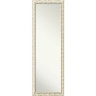 On The Door Full Length Wall Mirror, Cape Cod White Wash 18 x 52-inch - White Washed
