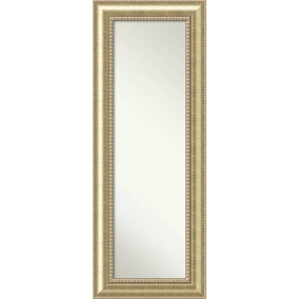 On The Door Full Length Wall Mirror, Astoria Champagne 21 x 55-inch - Antique Black - 55 x 21 x 1.196 inches deep