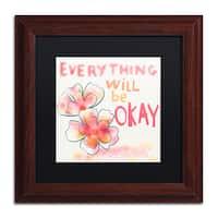 Lisa Powell Braun 'Okay' Matted Framed Art