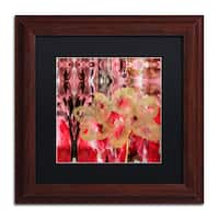 Lisa Powell Braun 'Daisy Abstract' Matted Framed Art