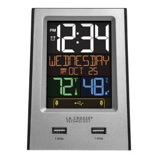 La Crosse Technology 617-1614 Desktop Dual USB Charging Station with Alarm & nap timer