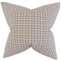 Hye Plaid 24-inch Down Feather Throw Pillow - Multi
